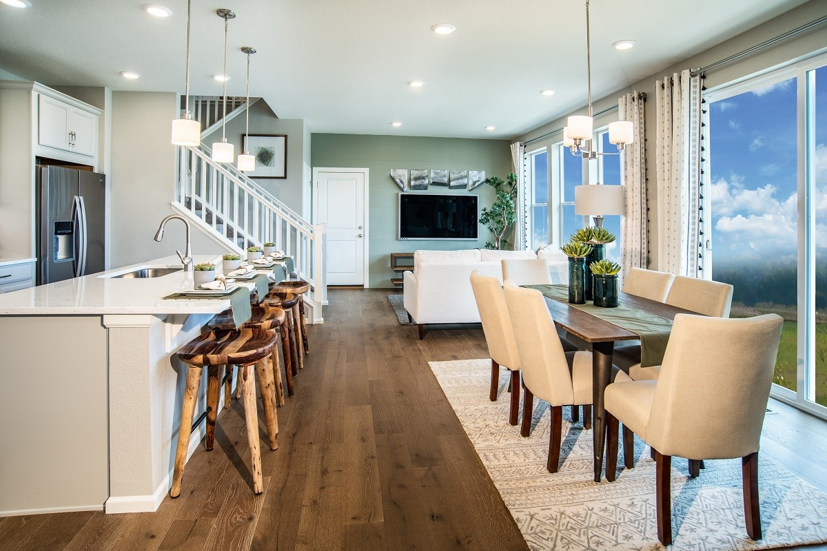 New Homes in Denver, CO - Stapleton Paired Homes - Villa Collection Spruce - Great Room