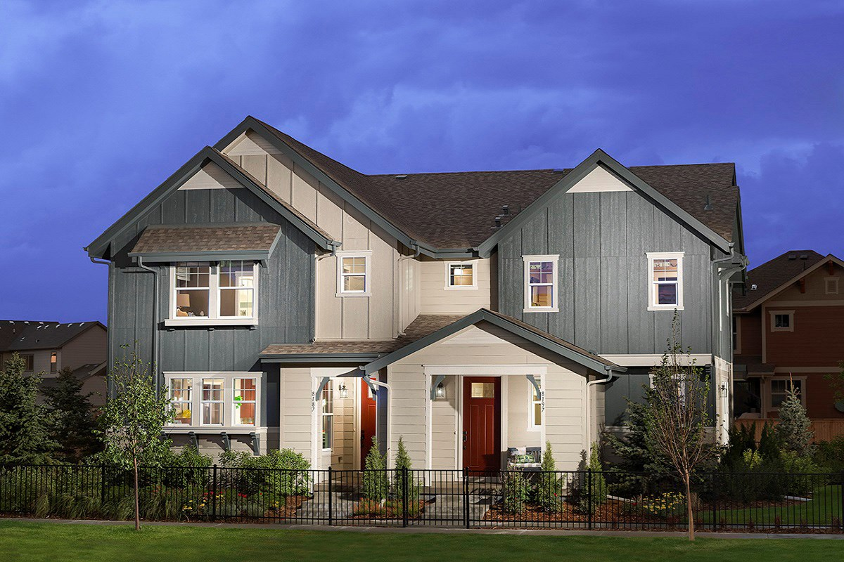 New Homes in Denver, CO - Stapleton Paired Homes - Villa Collection Cedar and Maple Model Homes