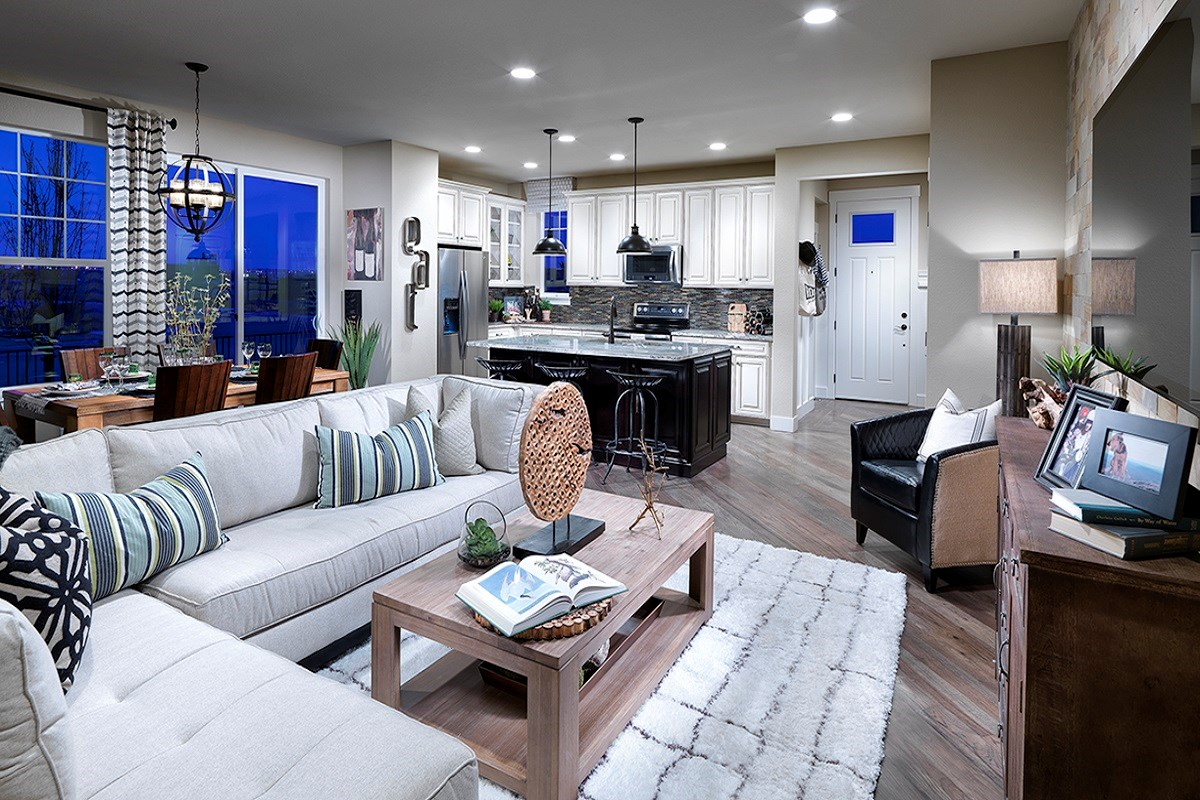 New Homes in Denver, CO - Stapleton Paired Homes - Villa Collection Cedar 1299 Family Room