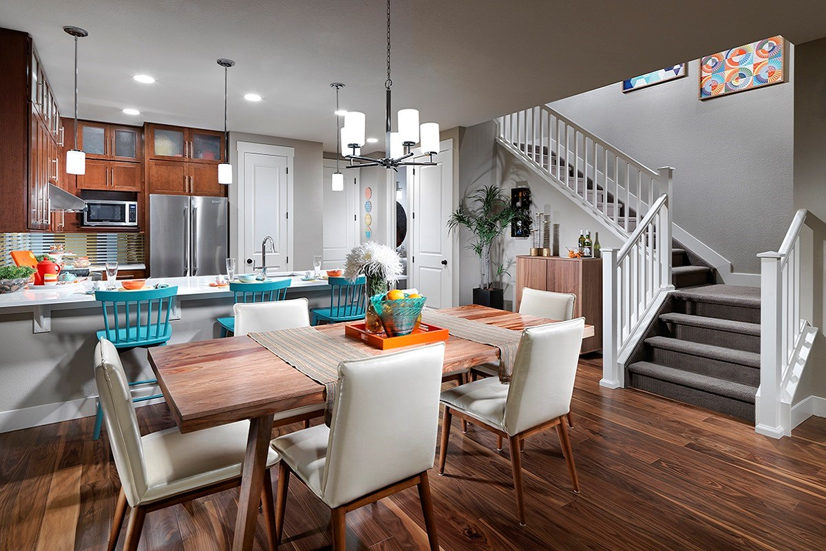 New Homes in Denver, CO - Stapleton Paired Homes - Villa Collection Maple 1507 Dining Area