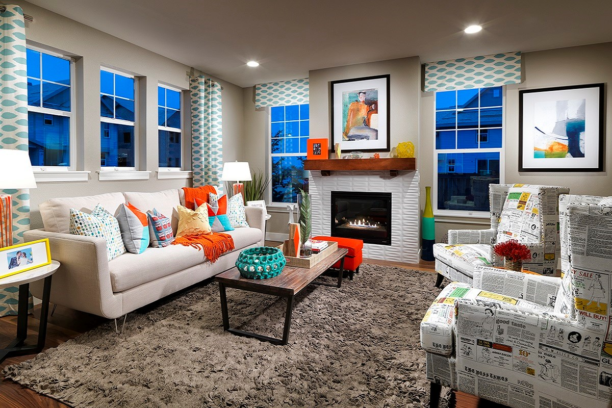 New Homes in Denver, CO - Stapleton Paired Homes - Villa Collection Maple 1507 Family Room