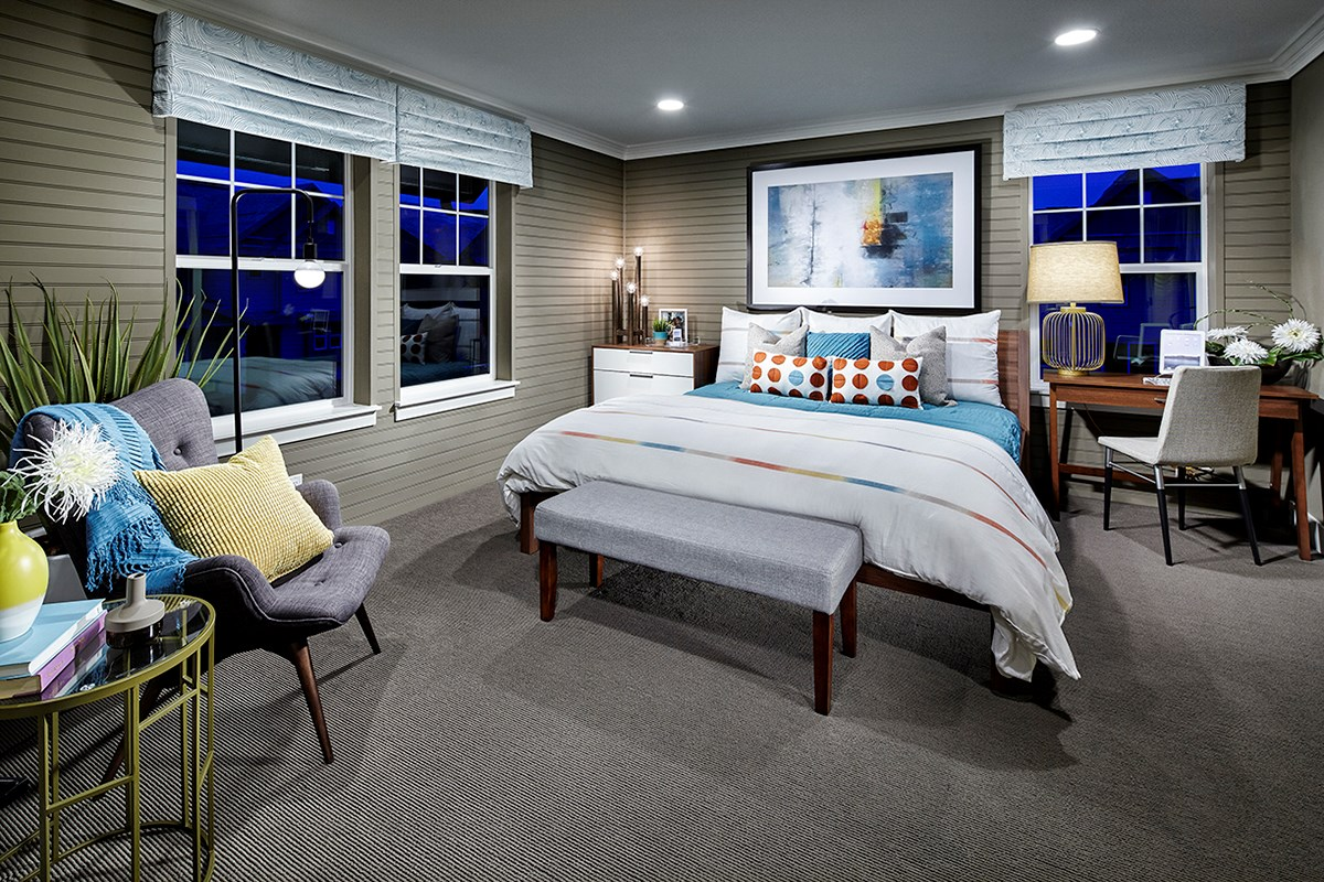 New Homes in Denver, CO - Stapleton Paired Homes - Villa Collection Maple 1507 Master Bedroom