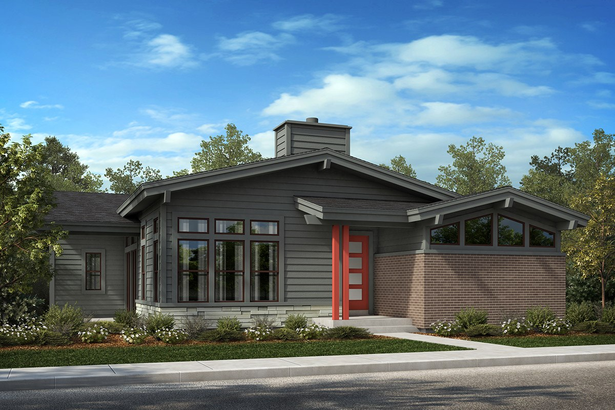 New Homes in Denver, CO - Stapleton Starlight Collection Eclipse - Elevation B