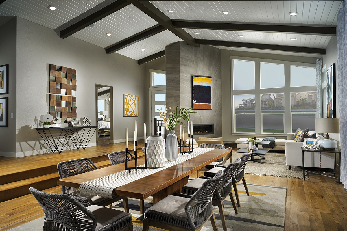 New Homes In Denver, CO   Stapleton Starlight Collection Eclipse Ranch  Overall Great Room