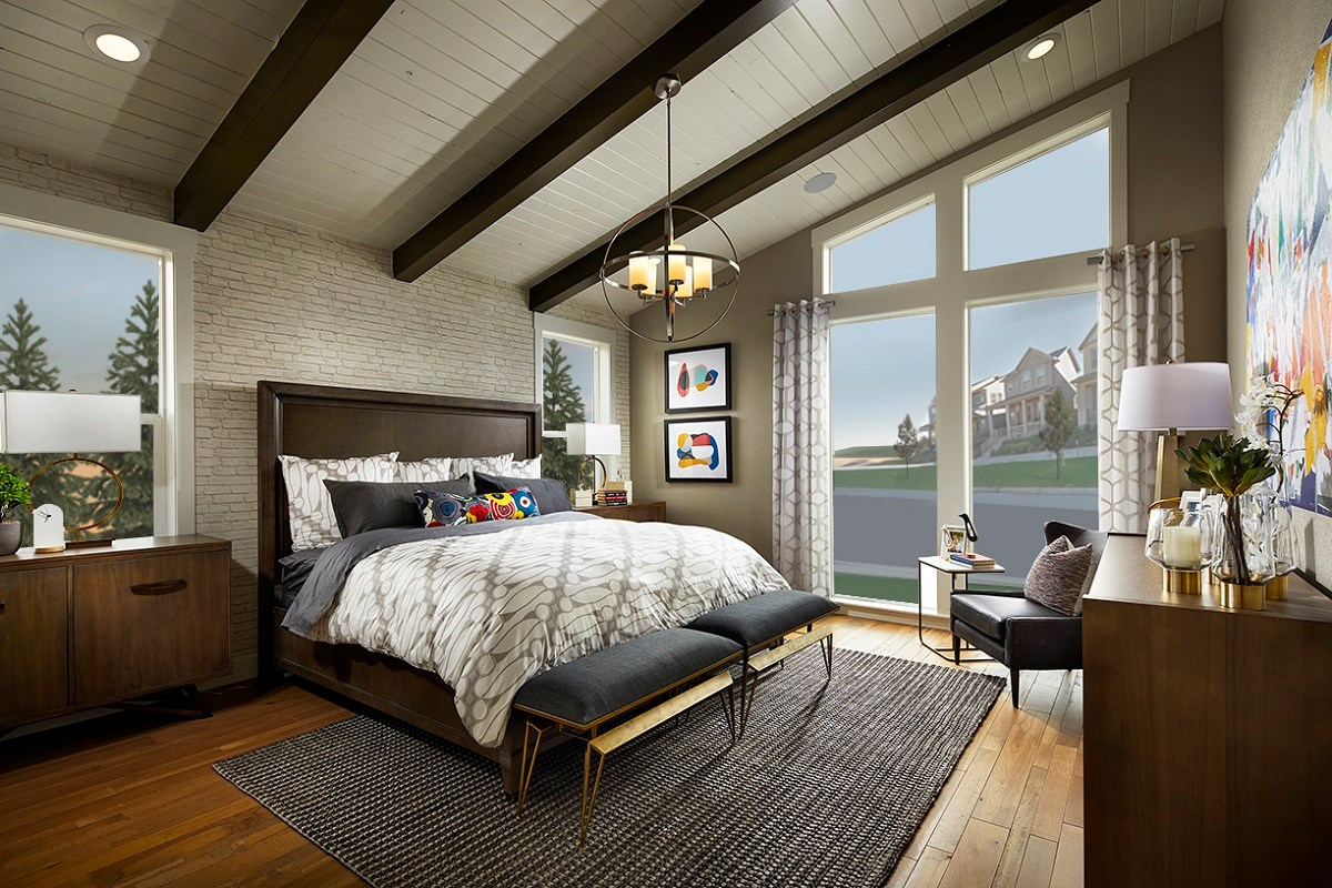 New Homes in Denver, CO - Stapleton Starlight Collection Eclipse Ranch Master Bedroom