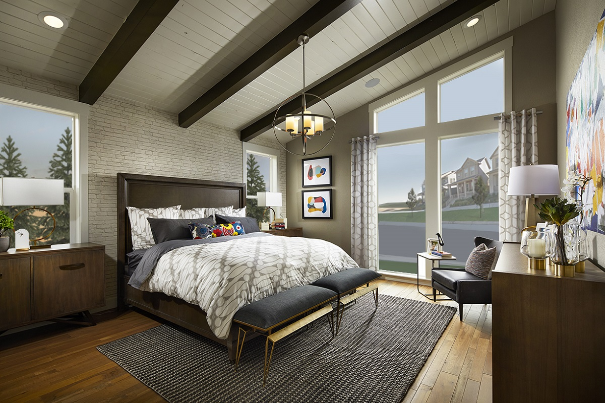 New Homes In Denver, CO   Stapleton Starlight Collection Eclipse Ranch  Master Bedroom