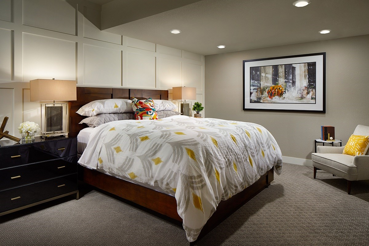 New Homes in Denver, CO - Stapleton Starlight Collection Eclipse Ranch Model Lower Level Guest Suite
