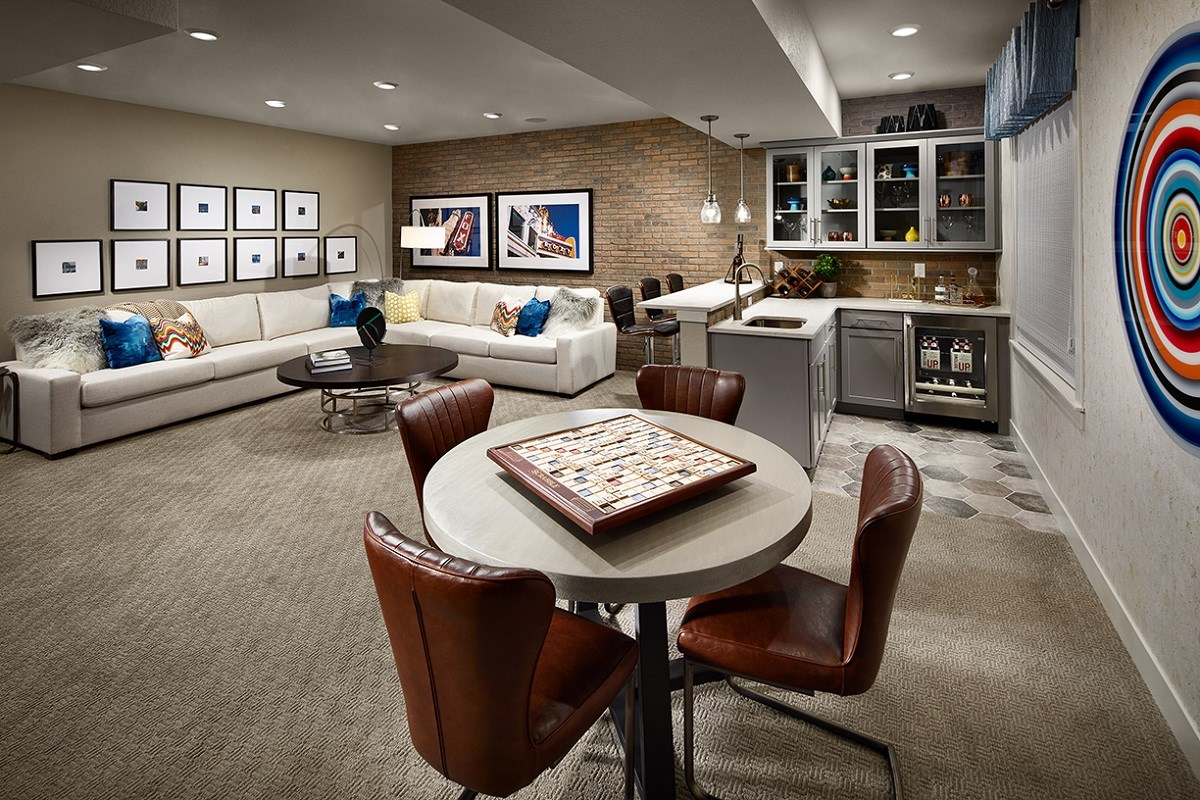 New Homes in Denver, CO - Stapleton Starlight Collection Eclipse Ranch Model Lower Level Rec Room