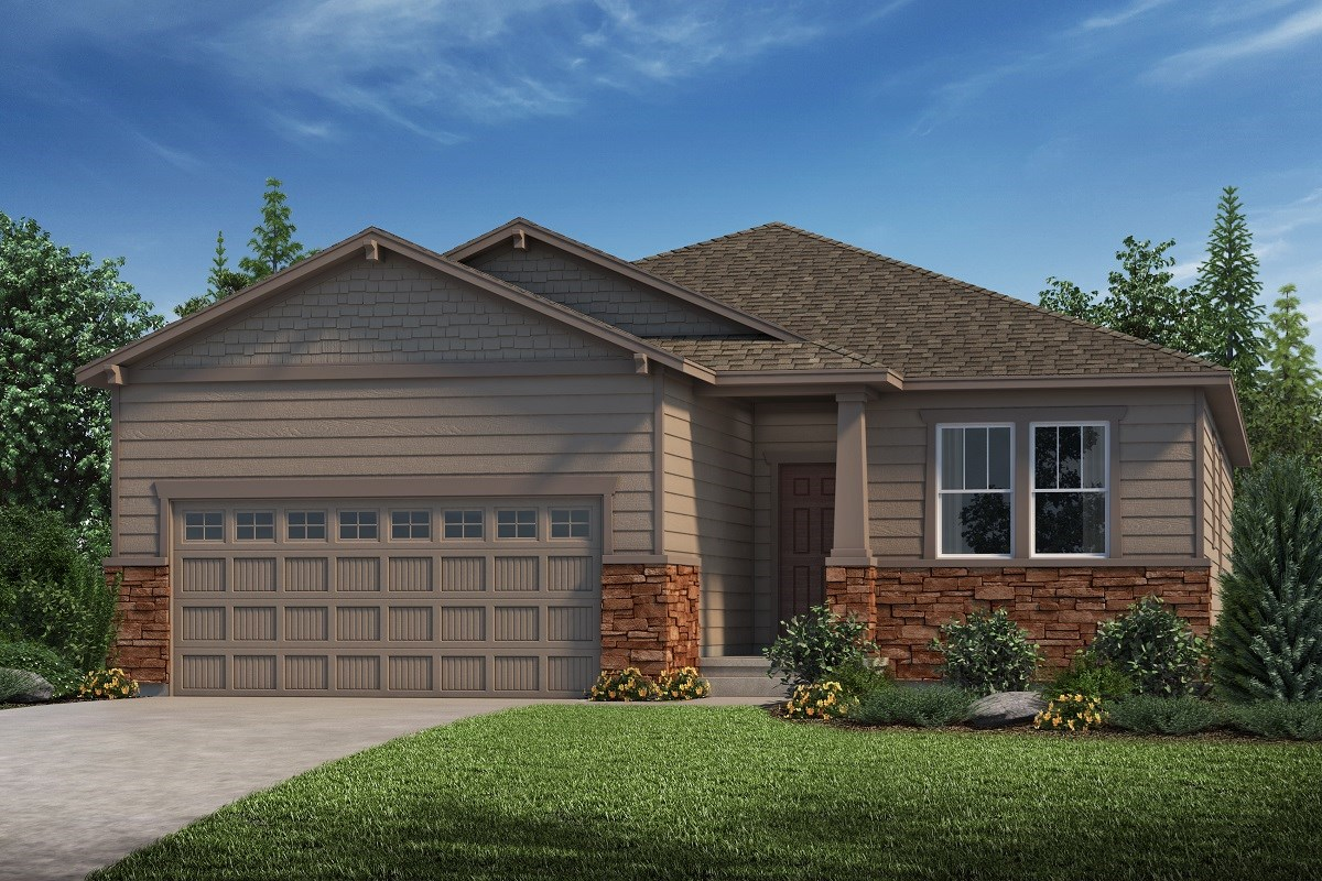 New Homes in Castle Rock, CO - Stone Creek Ranch Chaucer - Elevation C