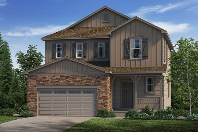 New Homes in Castle Rock, CO - Kittredge - Elevation A