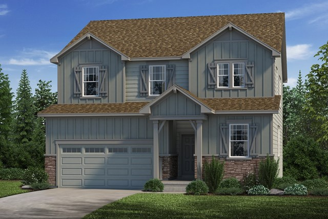 New Homes in Castle Rock, CO - Loveland - Elevation A