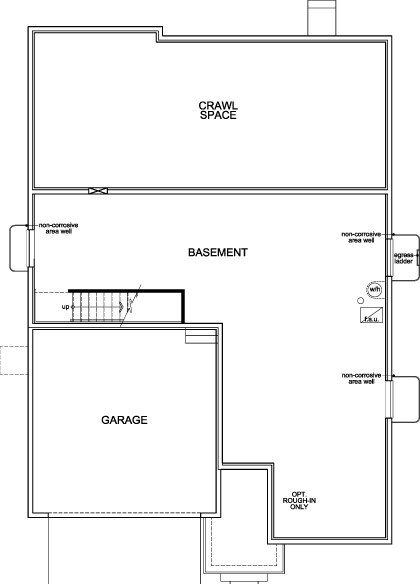 New Homes in Dacono, CO - Birch, Basement