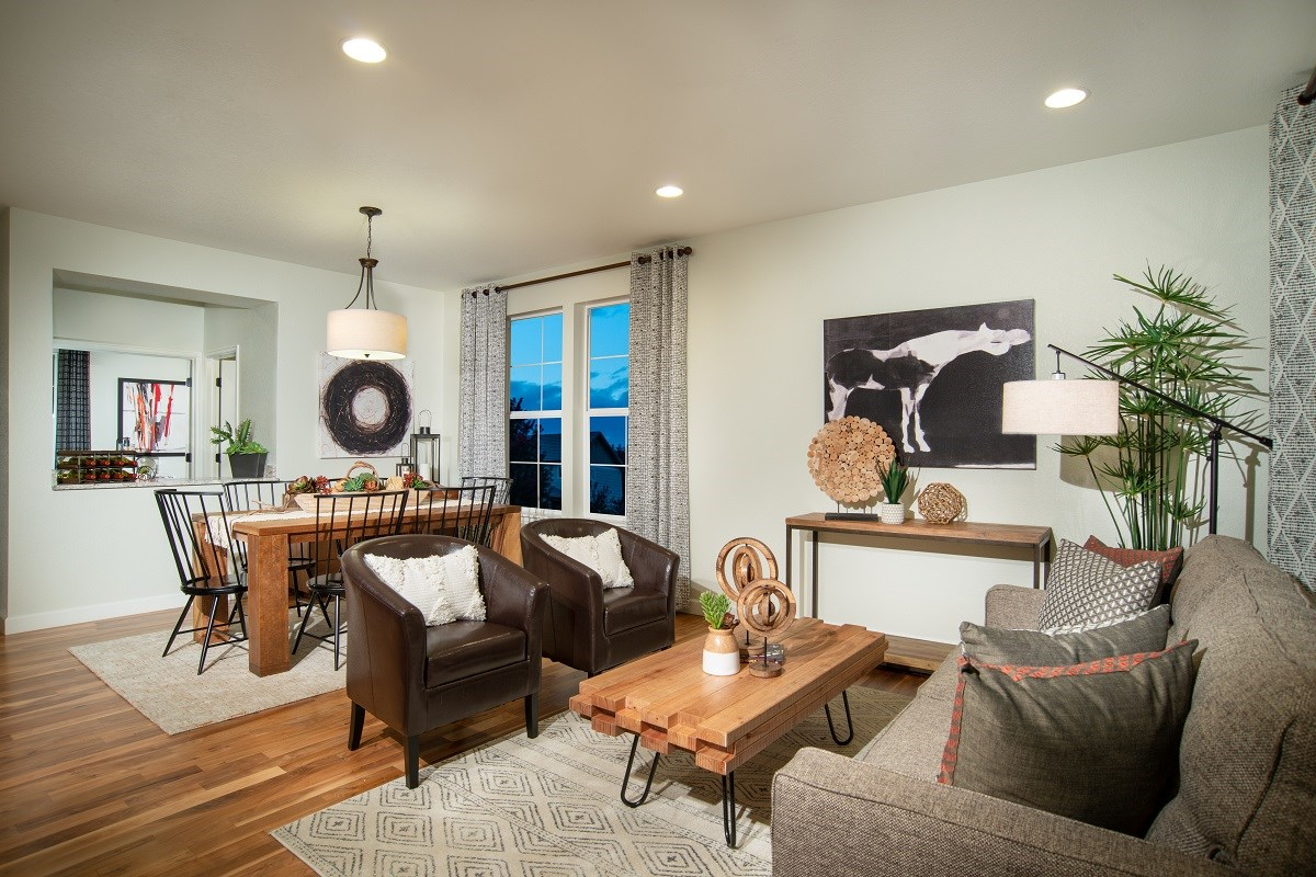 New Homes in Dacono, CO - Sweetgrass - Legacy Collection Lewis Flex Room - Dining and Sitting Area