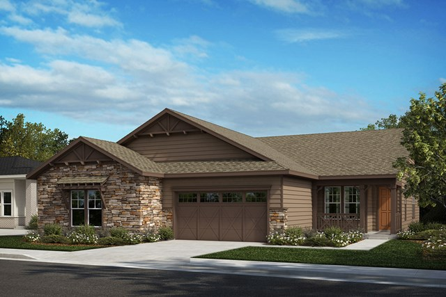 New Homes in Castle Rock, CO - Ambience and Mural - Elevation A