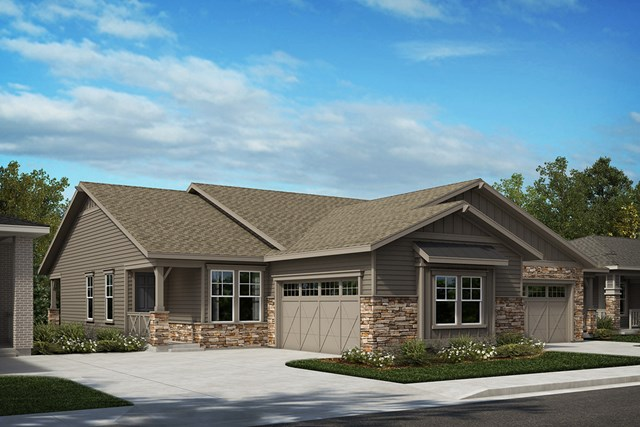 New Homes in Castle Rock, CO - Aura and Canvas - Elevation A