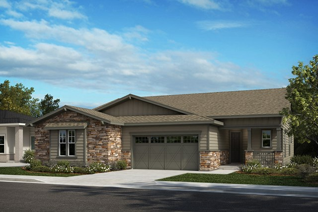 New Homes in Castle Rock, CO - Canvas and Outlook - Elevation A
