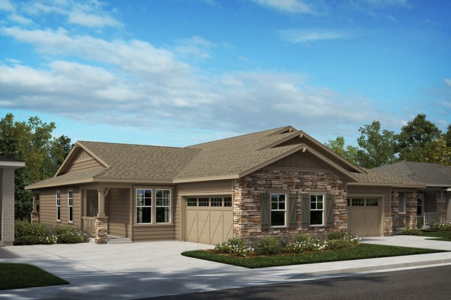 New Homes in Castle Rock, CO - Aura and Compass - Elevation A
