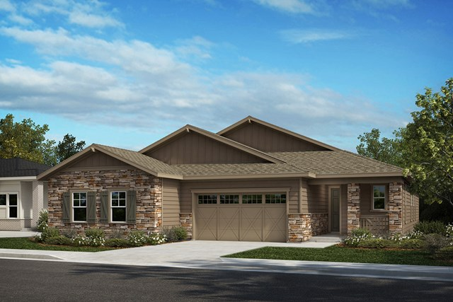 New Homes in Castle Rock, CO - Compass and Aura - Elevation A