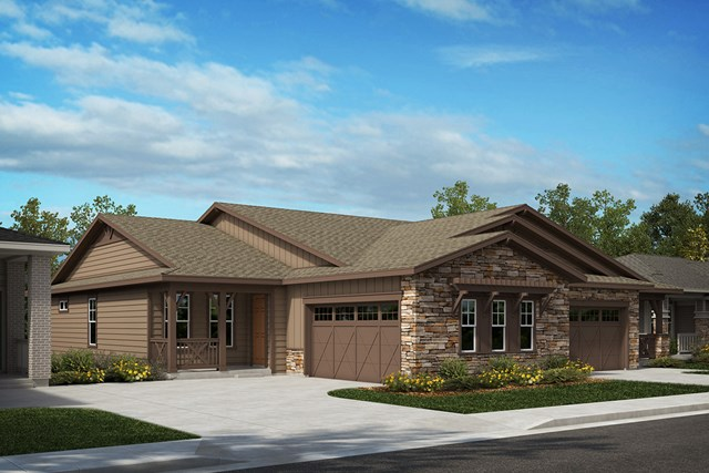 New Homes in Castle Rock, CO - Compass and Mural - Elevation A