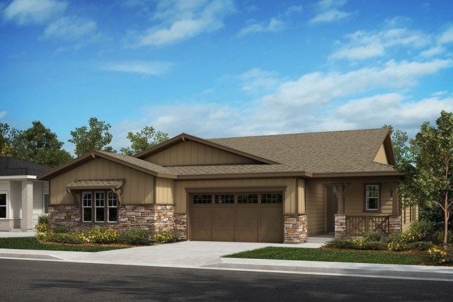 New Homes in Castle Rock, CO - Compass and Outlook - Elevation A