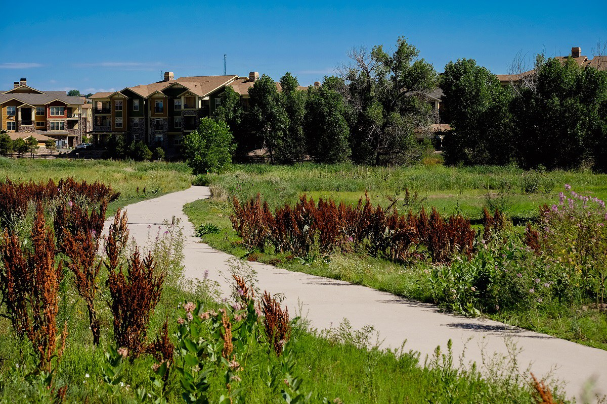 New Homes in Aurora, CO - The Reserve at Ponderosa Ridge Nearby Pinery Creek Trail