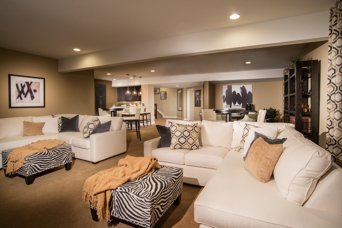 New Homes in Aurora, CO - The Estates at Ponderosa Ridge Domina 2605 Finished Basement