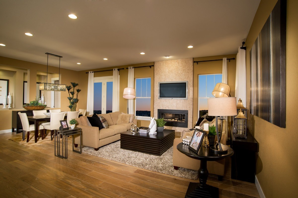 New Homes in Aurora, CO - The Estates at Ponderosa Ridge Great Room
