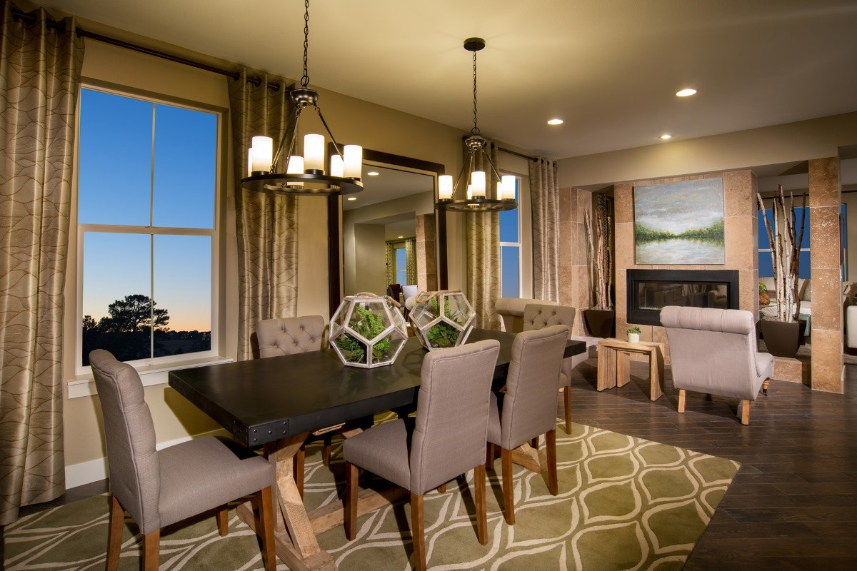 New Homes in Aurora, CO - The Estates at Ponderosa Ridge Pinotage 3489 Dining Room
