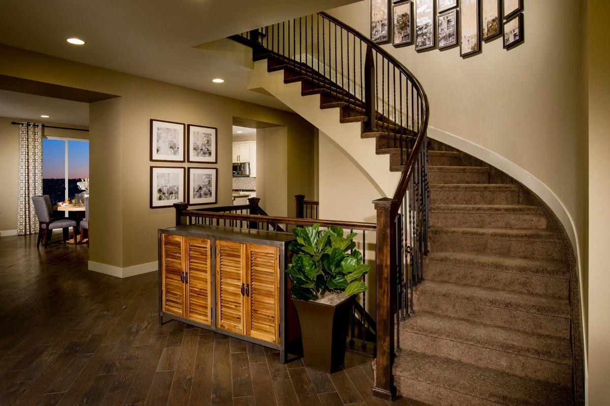 New Homes in Aurora, CO - The Estates at Ponderosa Ridge Pinotage 3489 Grand Staircase
