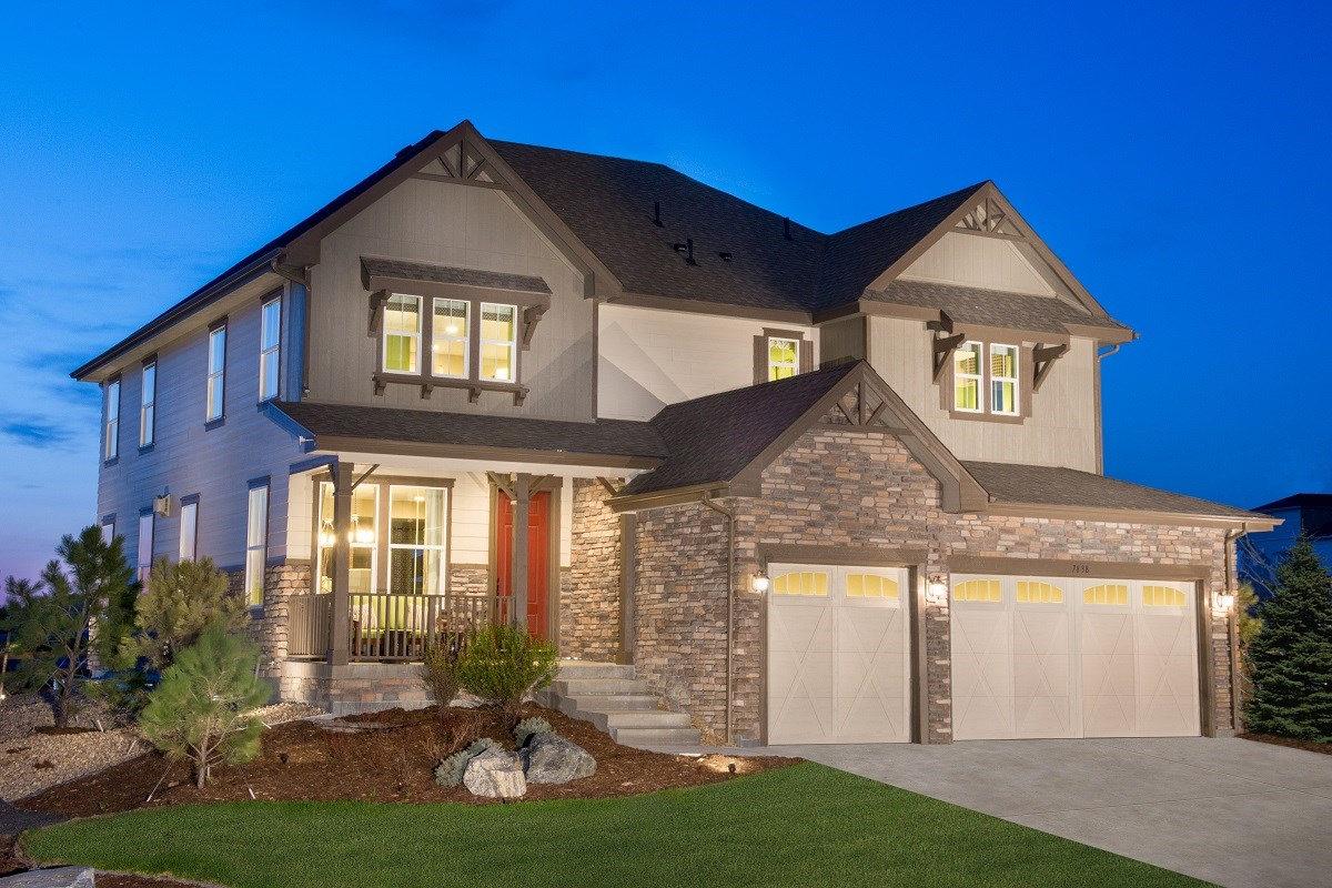 New Homes in Aurora, CO - The Estates at Ponderosa Ridge Pinotage 3489 Modeled