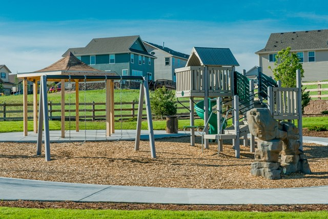 Amenity park at a KB Home community in Aurora, CO