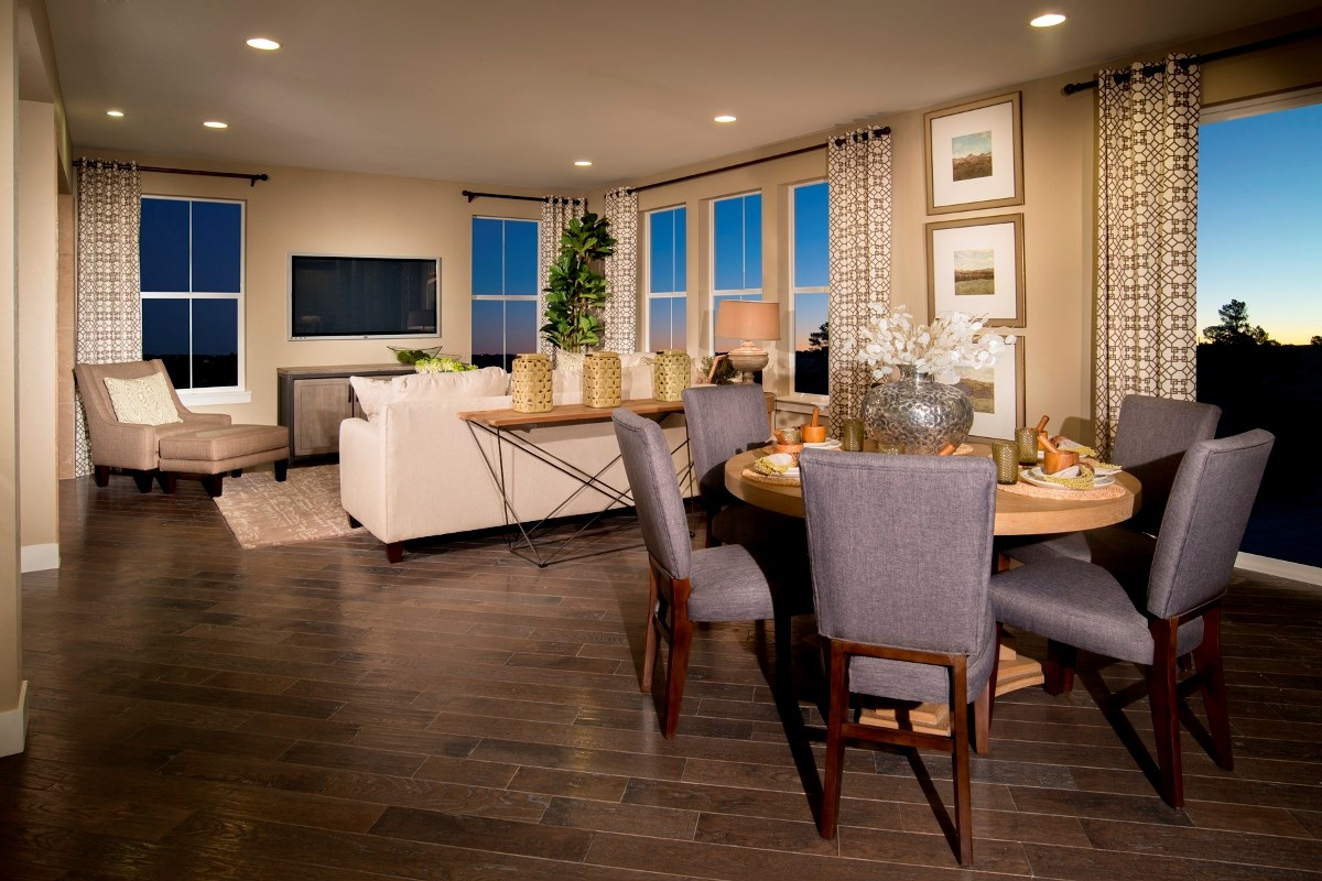 New Homes in Aurora, CO - The Estates at Ponderosa Ridge Pinotage 3489 Great Room