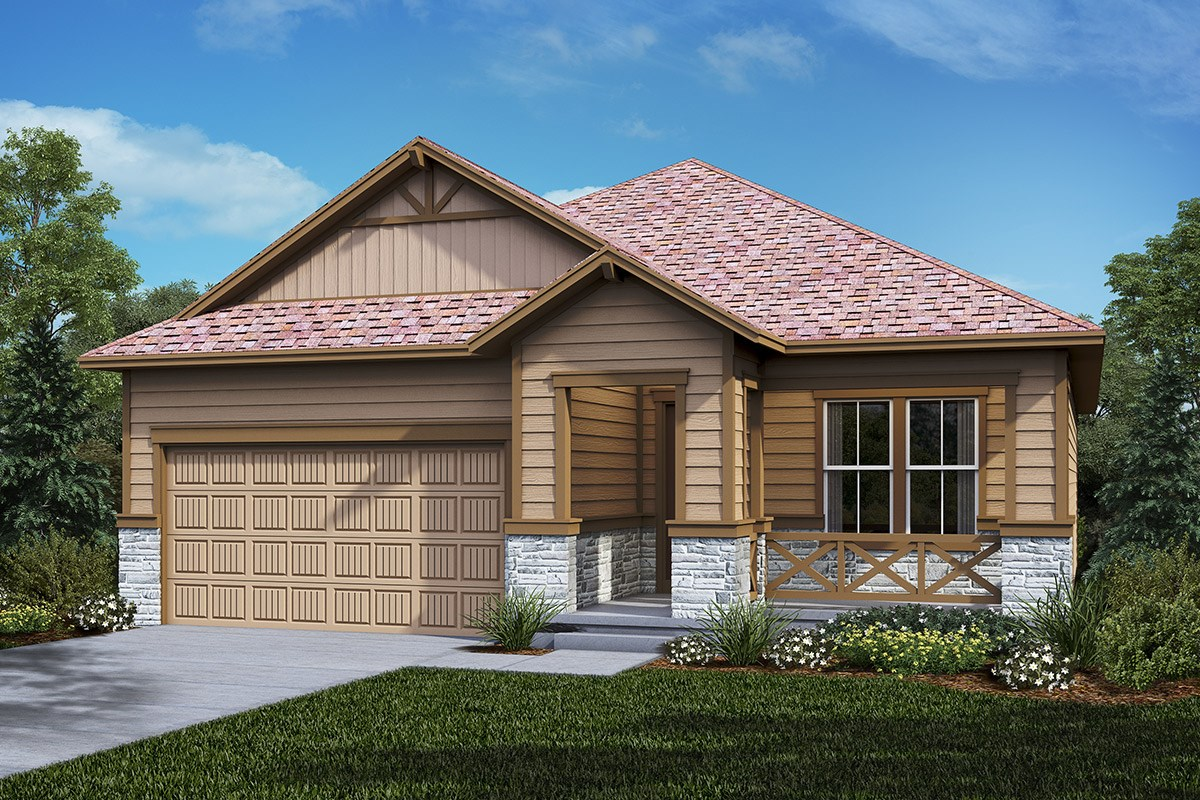 New Homes in Castle Rock, CO - Panorama at The Meadows Cottonwood - Elevation B