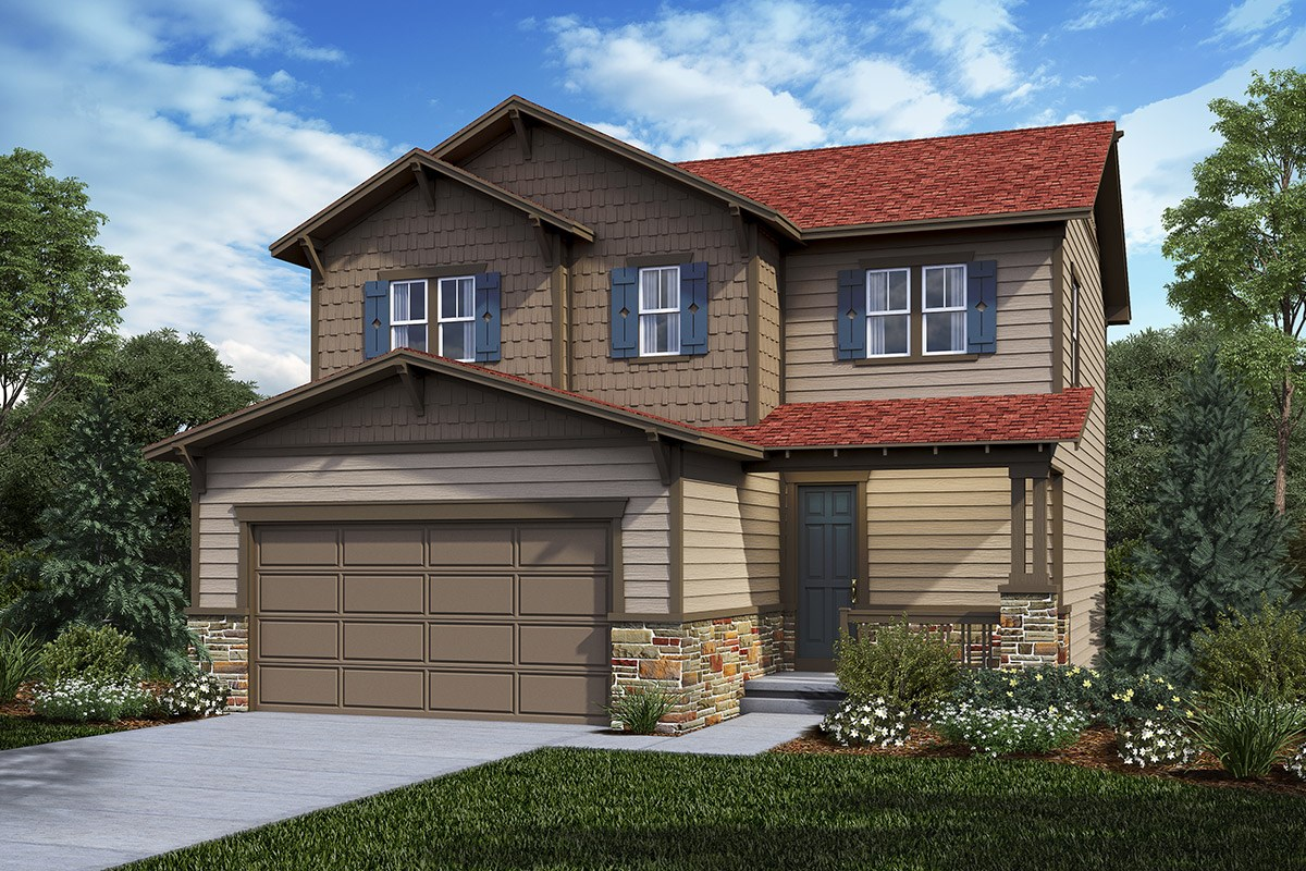 New Homes in Castle Rock, CO - Panorama at The Meadows Deckers - Elevation C