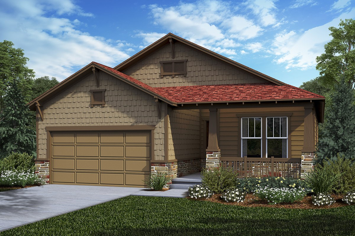 New Homes in Castle Rock, CO - Panorama at The Meadows Chaucer - Elevation C