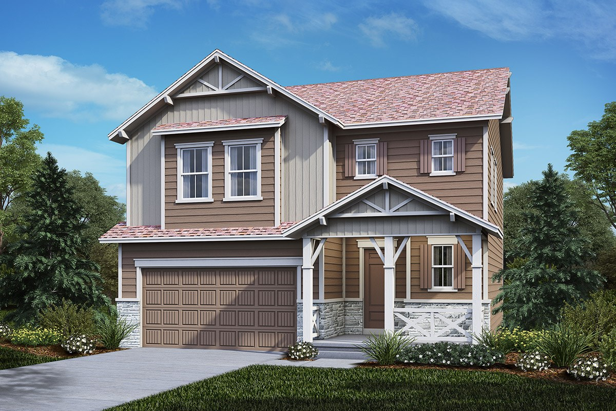 New Homes in Castle Rock, CO - The Meadows Hickory - Elevation B