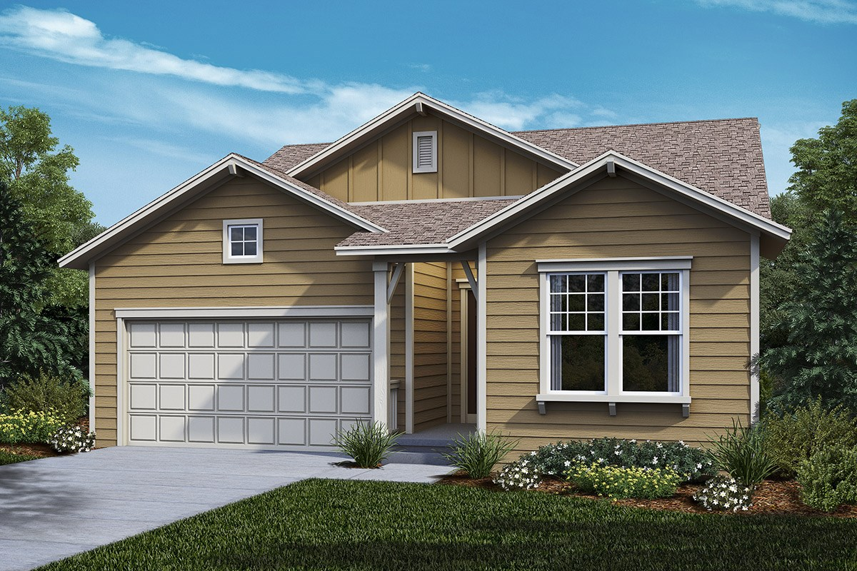 New Homes in Castle Rock, CO - Panorama at The Meadows Hawthorn - Elevation A