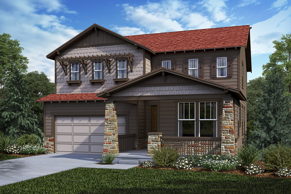 New Homes in Castle Rock, CO - Panorama at The Meadows Lafayette - Elevation C