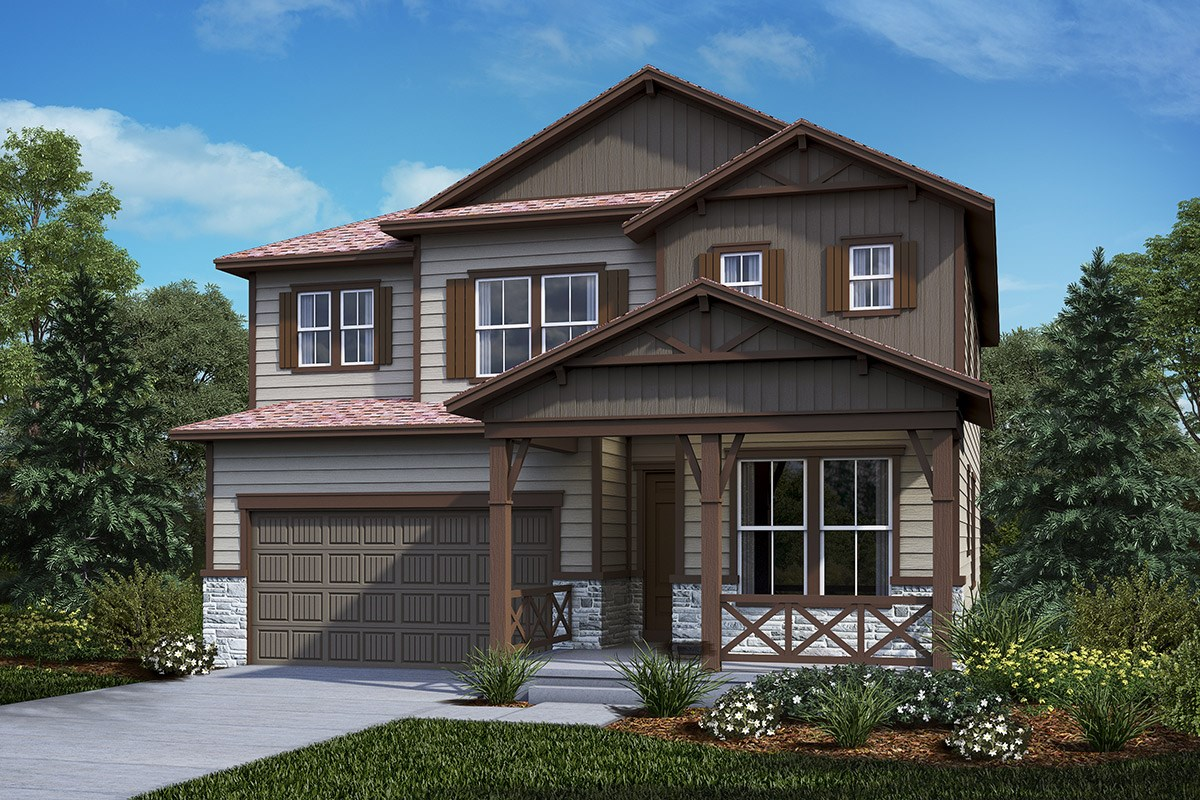 New Homes in Castle Rock, CO - Panorama at The Meadows Loveland - Elevation B