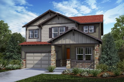New Homes in Castle Rock, CO - Loveland - Elevation C