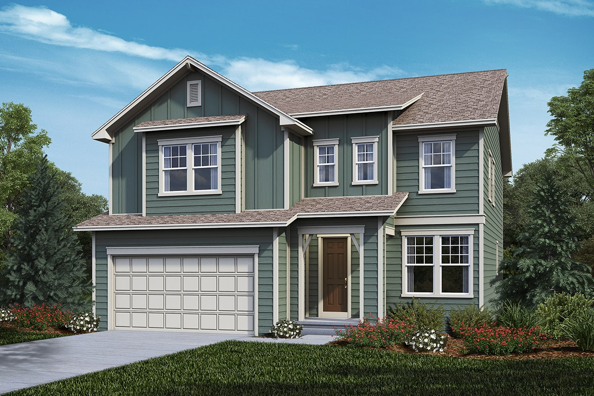 New Homes in Castle Rock, CO - Panorama at The Meadows Montrose - Elevation A