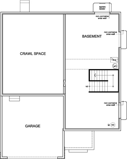 floor plan of basement
