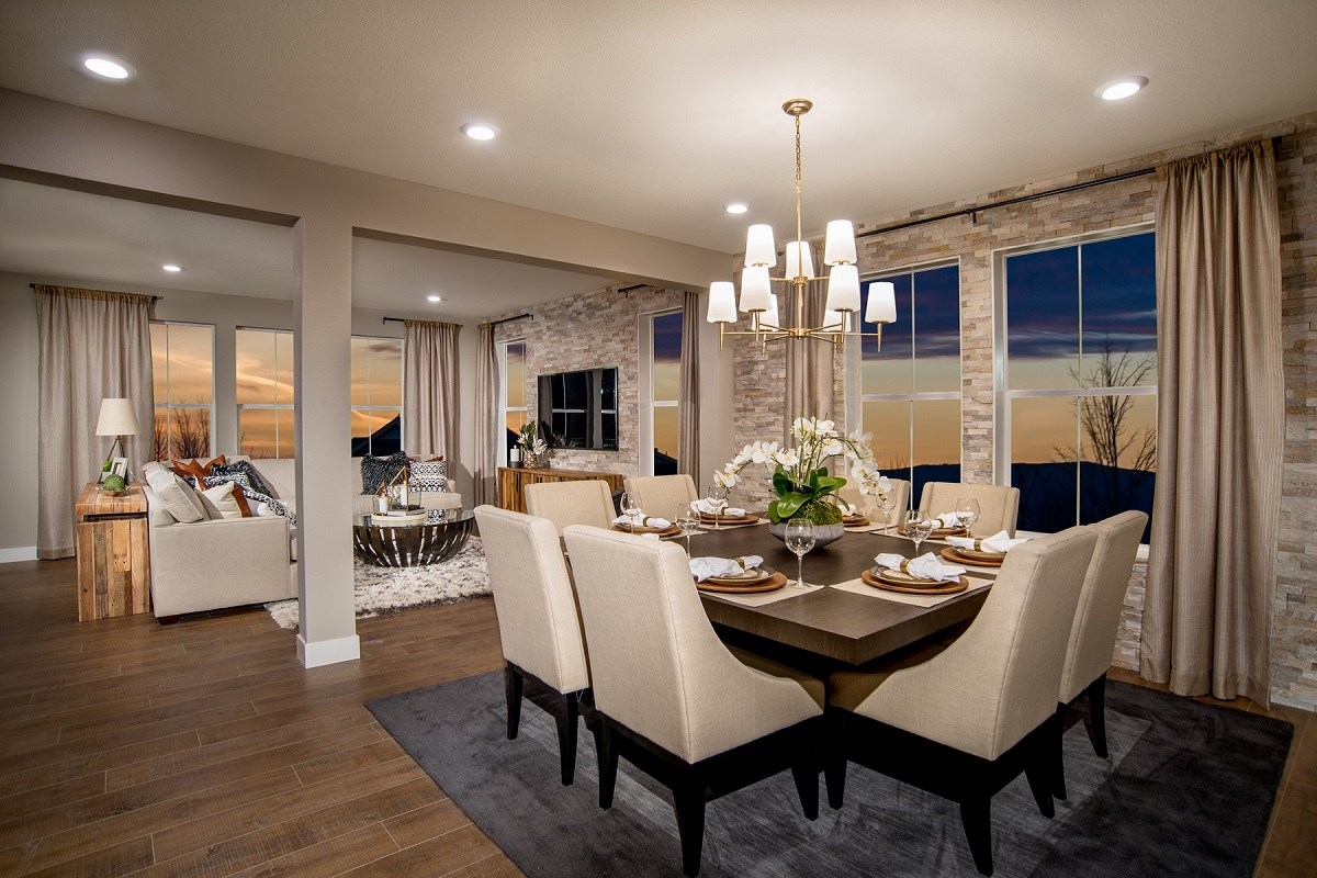 New Homes in Castle Rock, CO - Panorama at The Meadows Loveland Dining Area