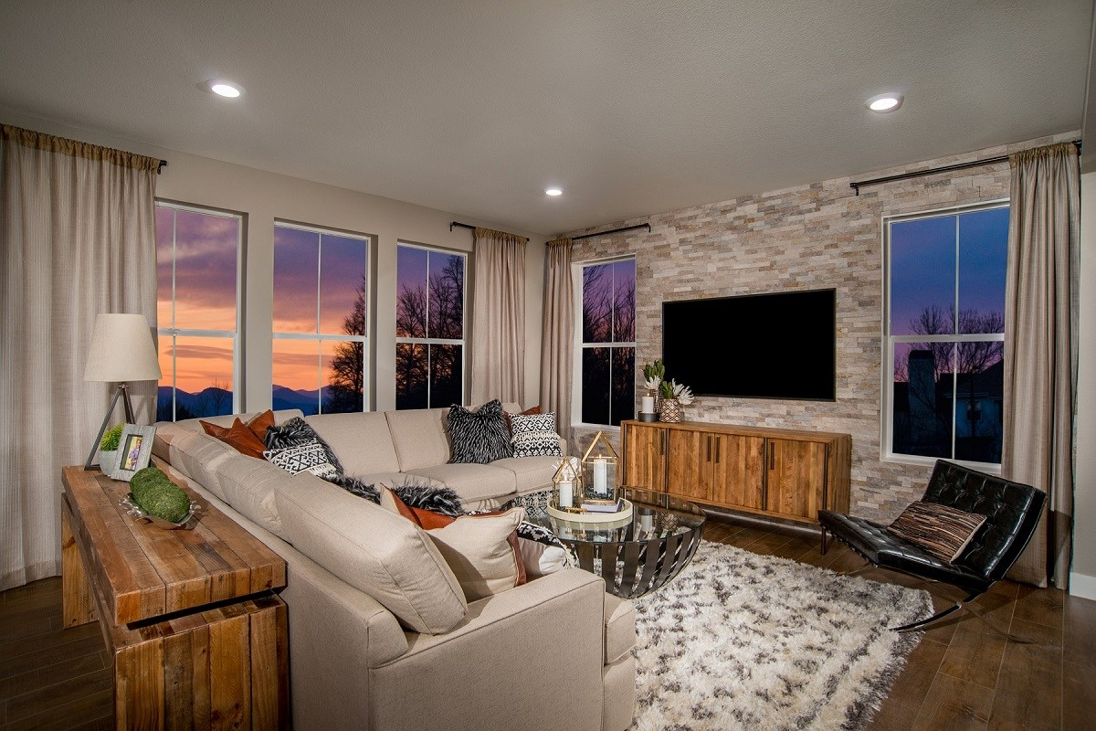 New Homes in Castle Rock, CO - Panorama at The Meadows Loveland Living Room