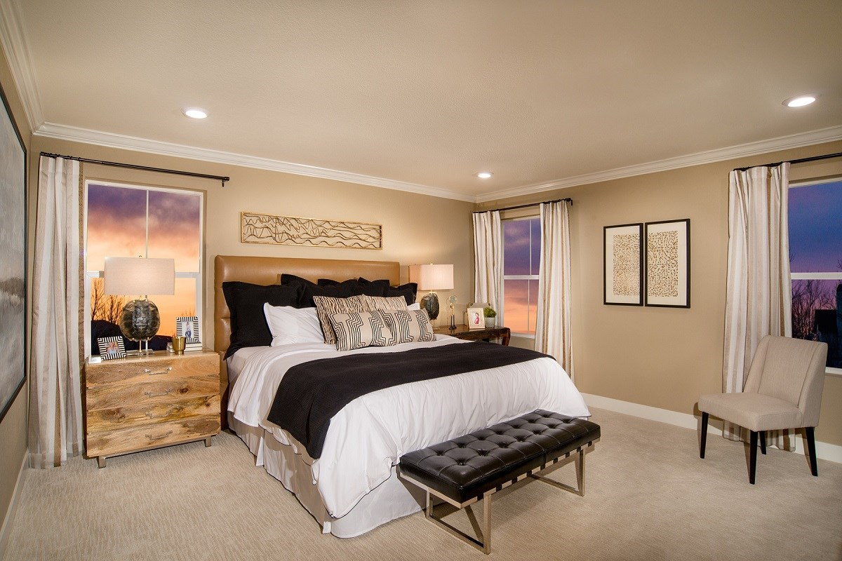 New Homes in Castle Rock, CO - Panorama at The Meadows Loveland Master Bedroom