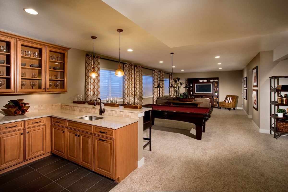 New Homes in Aurora, CO - The Reserve at Ponderosa Ridge Elm 1848 Finished Basement