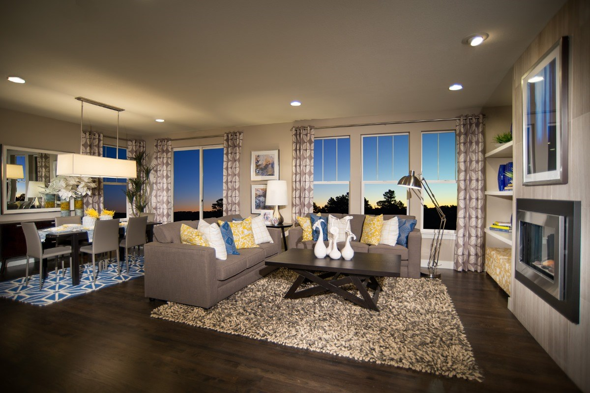 New Homes in Aurora, CO - The Reserve at Ponderosa Ridge Montrose 2841 Great Room