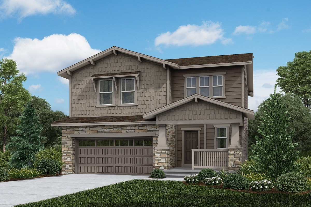 New Homes in Brighton, CO - The Villages at Prairie Center  Glimpse - Elevation B