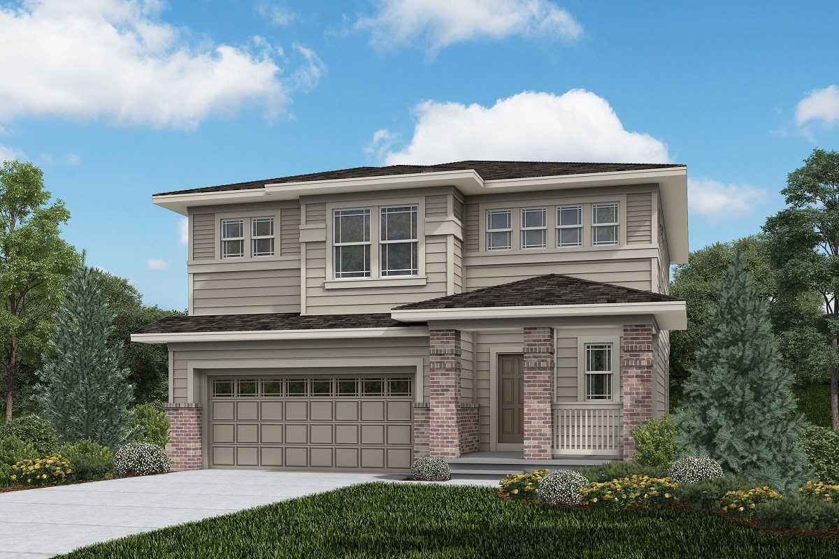New Homes in Brighton, CO - The Villages at Prairie Center  Glimpse - Elevation C