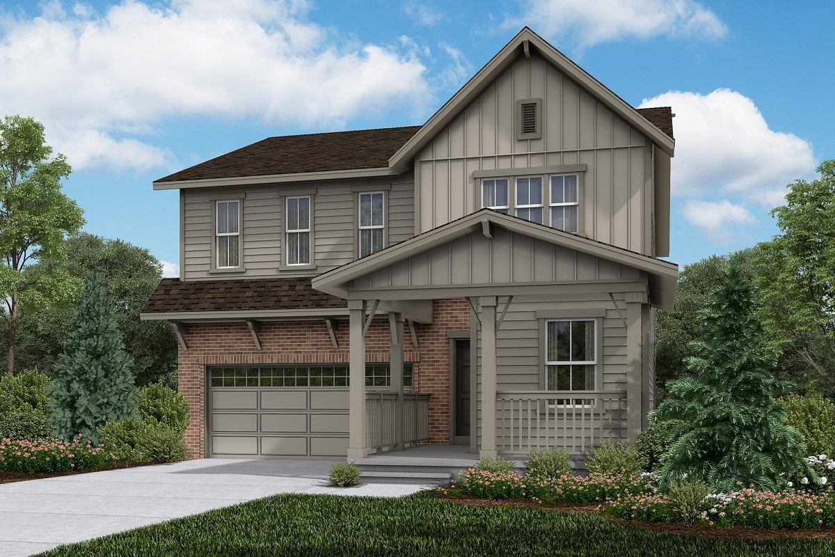 New Homes in Brighton, CO - The Villages at Prairie Center  Memory - Elevation A